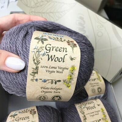100% шерсть Lana Virgine Manifatura Sesia Green Wool  10*50 гр 80м/50 гр col 9206   Цена за моток 50гр