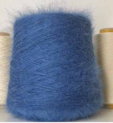 80% ангора, 20% п/а   Biagioli Modesto  566м/100гр. Припыленный сине-голубой