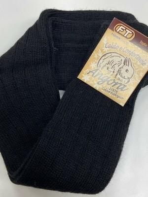 Носки универсальные, высота 30см размер 35-38, 75% лана(мягкая шерсть), 20% ангора, 5% эластан   Made in Italy.   черный