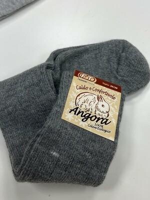 Носки универсальные, высота 30см размер 35-38, 75% лана(мягкая шерсть), 20% ангора, 5% эластан   Made in Italy.  средне-серый
