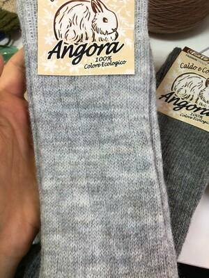 Носки универсальные, высота 30см размер 35-38, 75% лана(мягкая шерсть), 20% ангора, 5% эластан   Made in Italy.  светло-серый