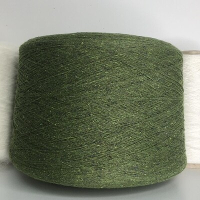 FRISBY  Casa del Filato 50% меринос 25% буретный шёлк 25% п/а 1500 м /100 гр col.7756  Твид зеленая трава