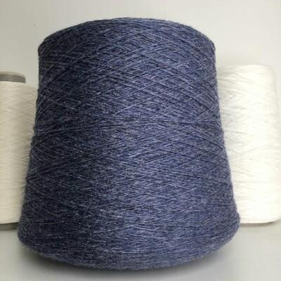STOCK Italy  80% шерсть, 20% п/а 700м/100гр   Меланжевый синий джинсовый