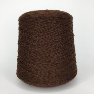 ELISIR - Biella Yarn Кашемир 100%, шнурок, 330м/100гр тёмный желтовато-коричневый