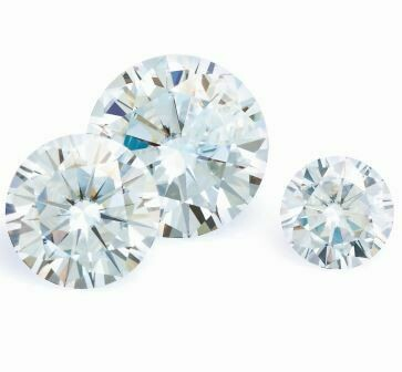 Moissanite, Size 5 mm - 8 mm (price for pcs.)