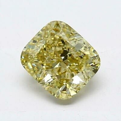 Cushion Cut 1.01 ct Fancy Yellow VS2 Loose Diamond,GIA Certificate