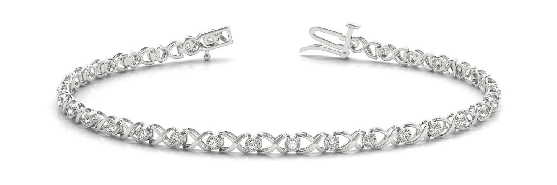 18K Diamond Bangle Italian Made Bracelet