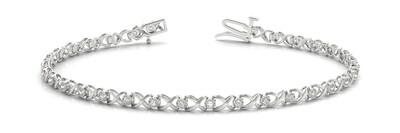 14K Diamond Bangle Italian Made Bracelet