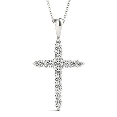 Diamond pendant religious cross, diamond cross