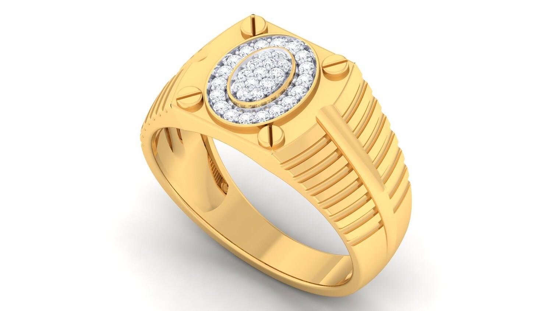 3Д файл, кольцо с бриллиантами, мужской перстень