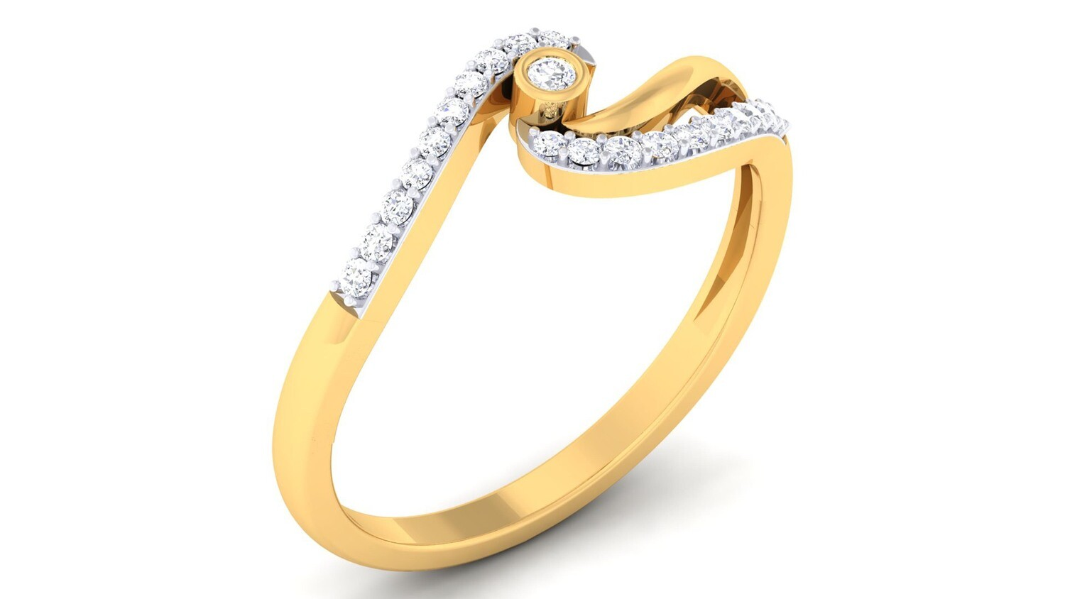 3D CAD jewelry model diamond engagement ring