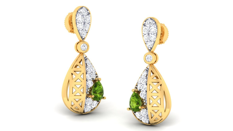 3Д файл, ювелирные серьги, кулоны и подвески с драгоценными камнями и бриллиантами