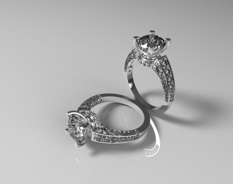 CAD Model of Diamond Engagement Ring