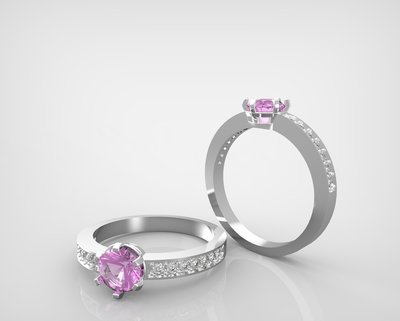 3D CAD model of engagement ring