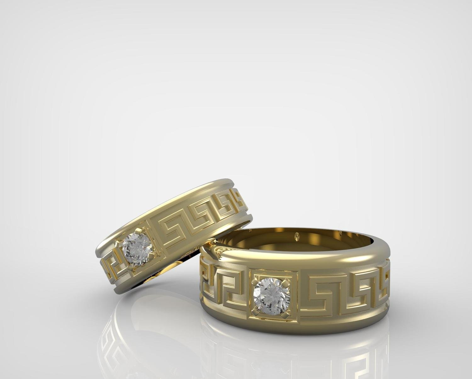 CAD/CAM of Gold and Diamond Wedding Ring