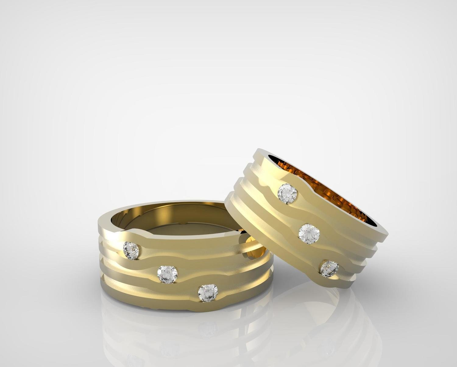 CAD Model of Custom Diamond Wedding Ring