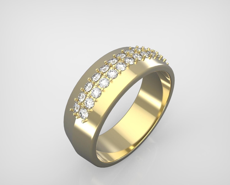 CAD Model of diamond Wedding Ring