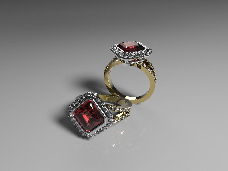 3D Model of Diamond Engagement Ring