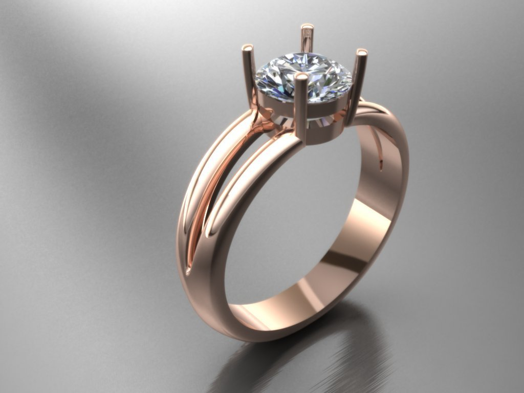 3D Model of Diamond  Engagement Ring
