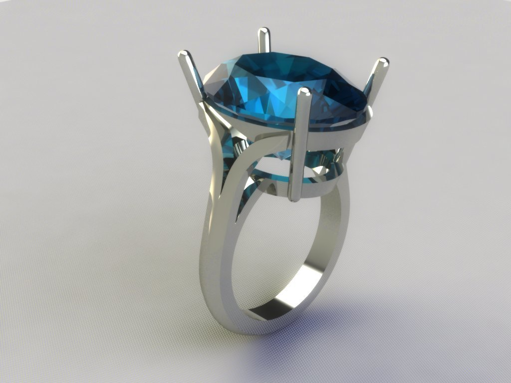 3D CAD Model of Solitaire Ring