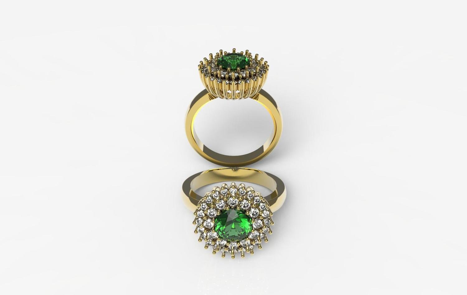 3D Model of Emerald Ring