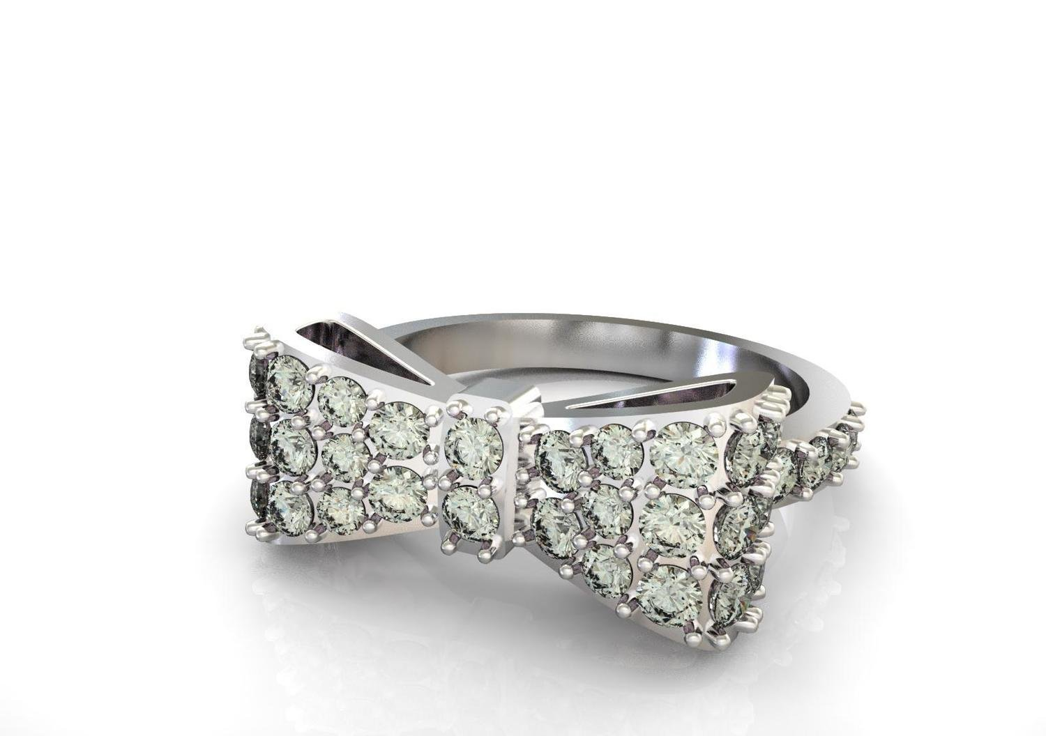 3D CAD Model of Diamond Engagement Ring