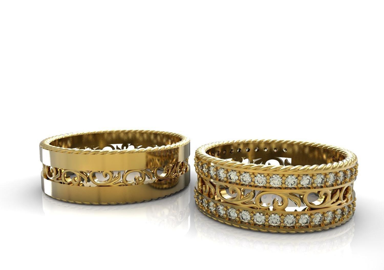 3D CAD file of Wedding Ring(Men)