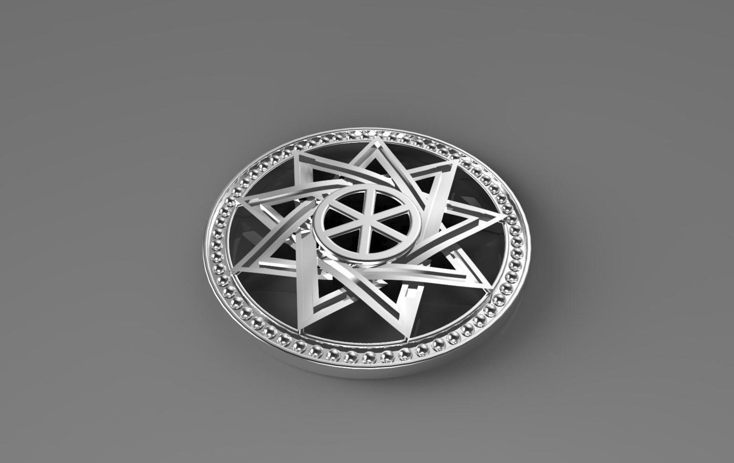 3D CAD Model of Religious Pendant