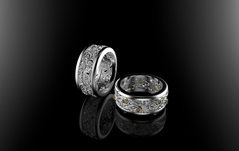 3D CAD Model of Wedding Ring