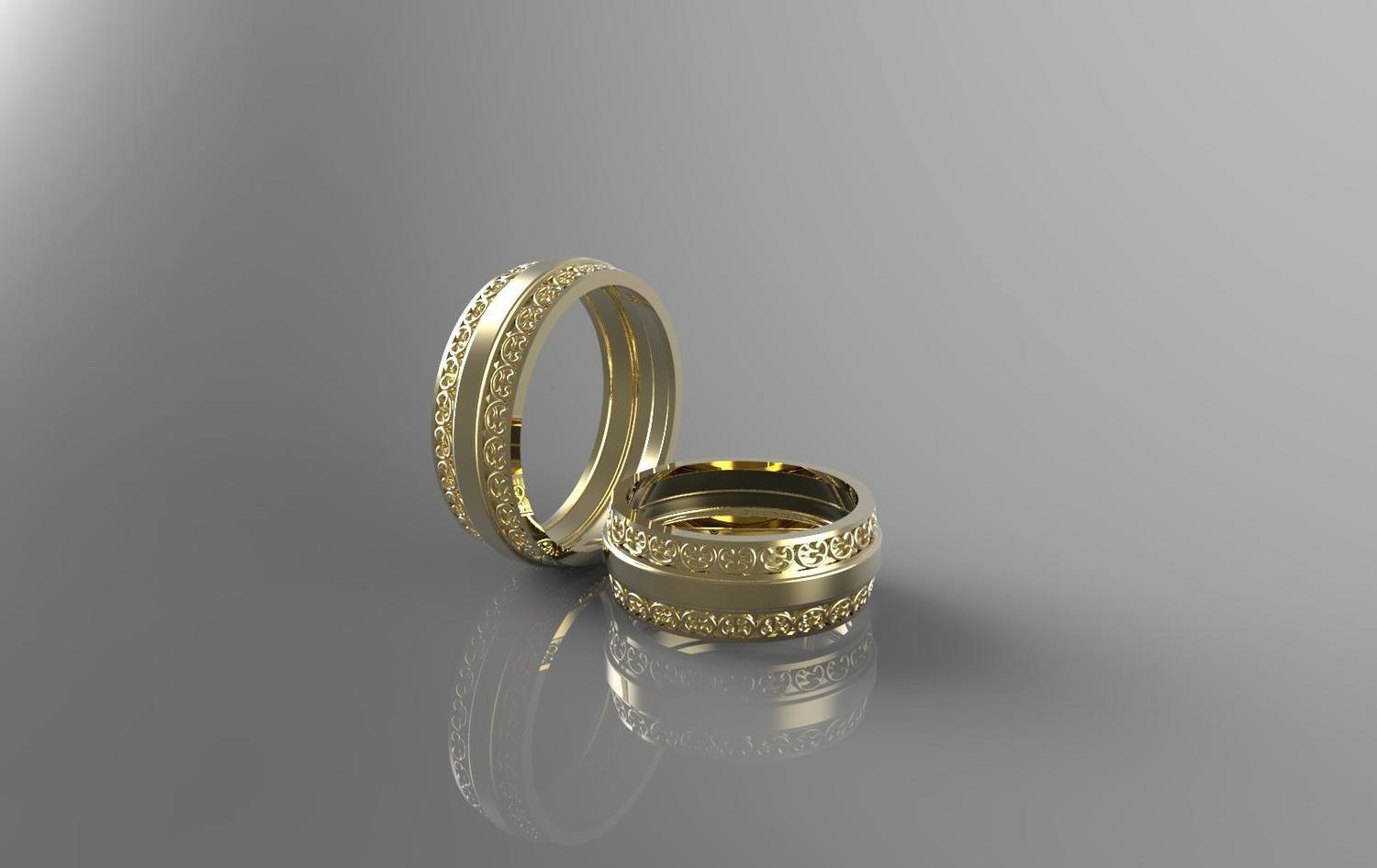 3D CAD Model of Wedding Ring (Size 8.5)