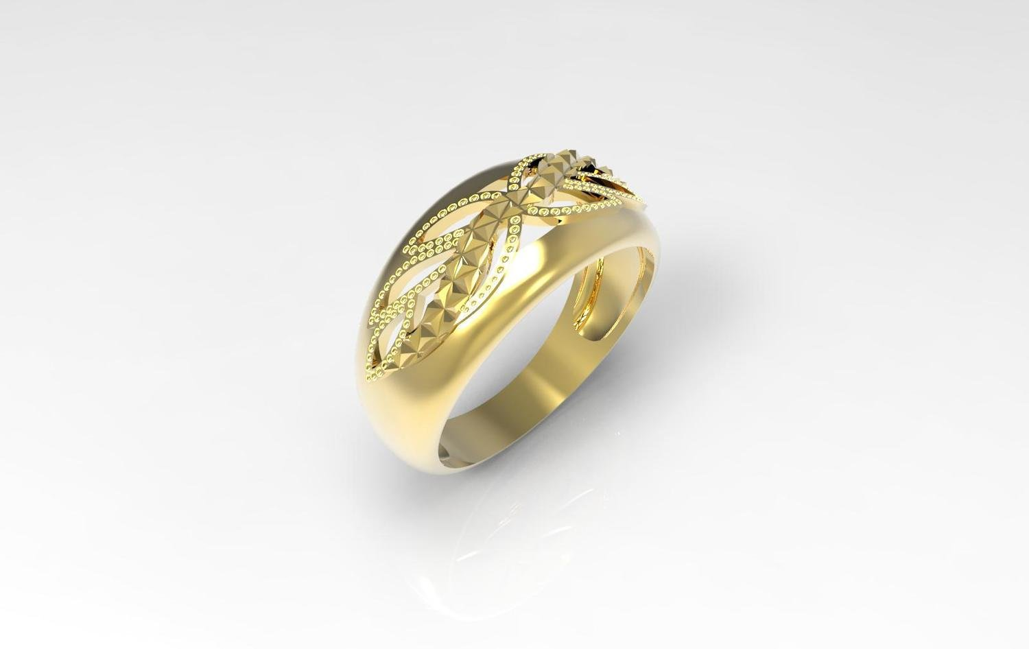 3D CAD Model of Wedding Ring
