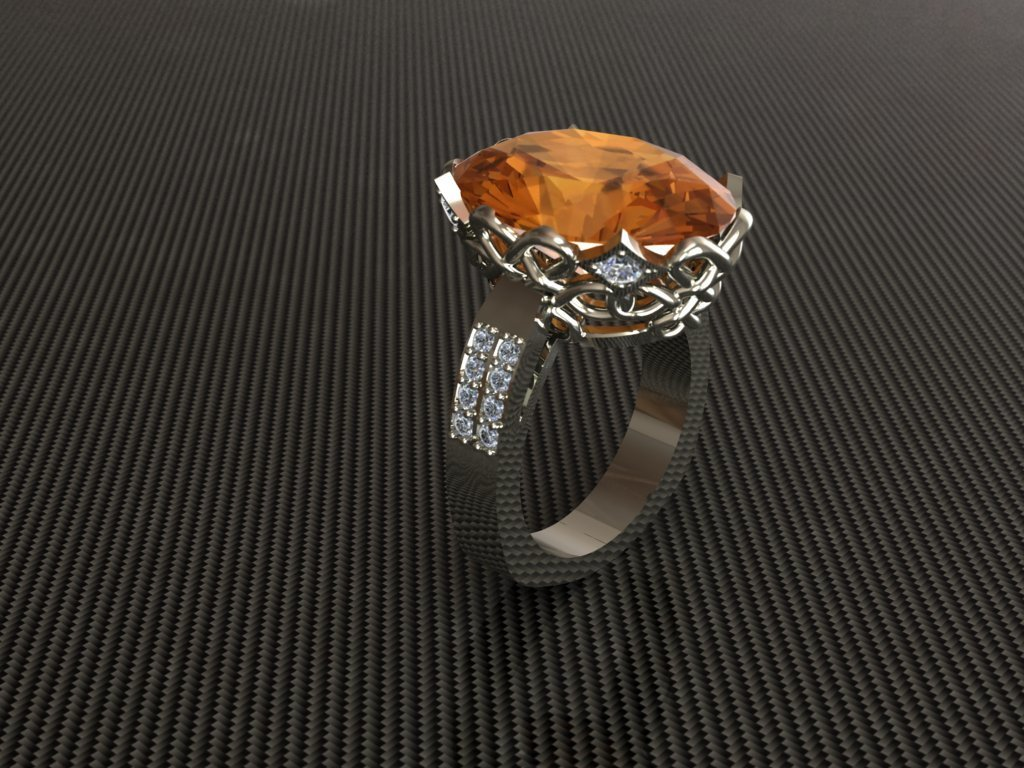 CAD Jewelry Model of Gemstone ring