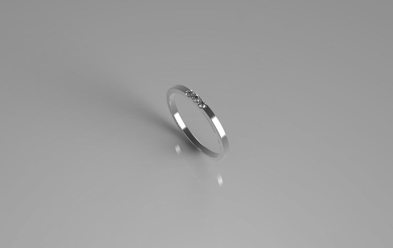 3d CAD jewelry model diamond wedding ring(size 6 US)