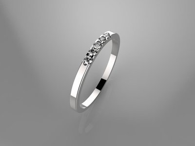3D CAD model of engagement ring(size 6 US)