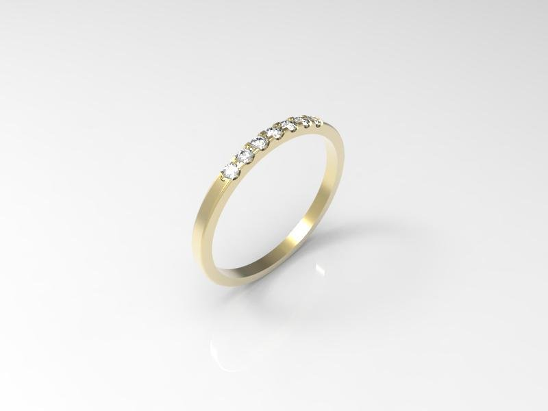 3D jewelry model  of 7 stones wedding ring (size 8 US)