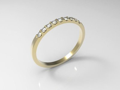 CAD jewelry model of the ring (size 8 US)