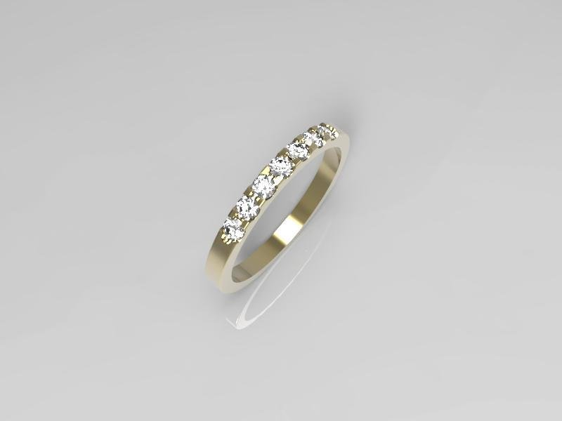 3D jewelry model of 7 stones  wedding ring (Size 6US)