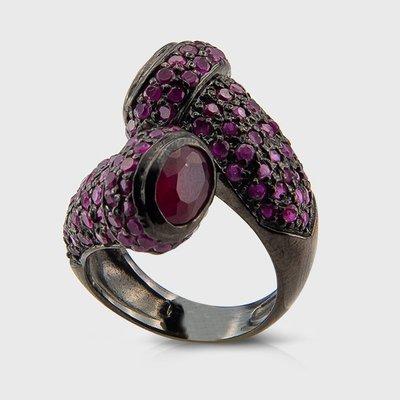 Gemstone ring in sterling silver