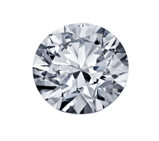 0,5 ct round natural diamond F/VVS2 IGI certificate