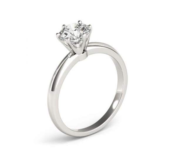 14K GOLD 0.25 CT G-H VS2/SI1 SOLITAIRE ENGAGEMENT RING