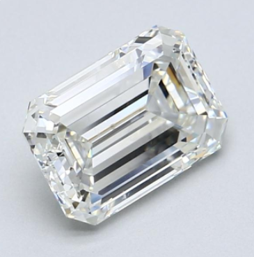 Emerald cut diamond 2.06ct J/VVS2 GIA certificate