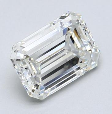 Emerald cut diamond 2.06ct J/VVS2 GIA certificate