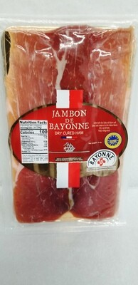 Imported Jambon de Bayonne - Bayonne style cured ham slices - 4oz. Pack