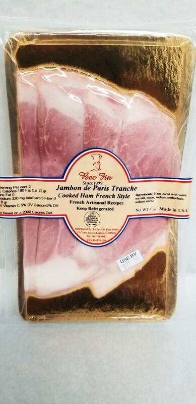 Tranches de Jambon de Paris - Parisian style cooked ham slices - 4 oz.