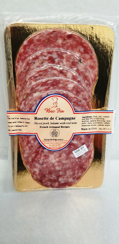 Sliced Rosette de Campagne 4 OZ pack ready to eat