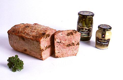"100 % Pheasant meat Galantine (Pheasant pâté with prune & Armagnac) ""Pork-Free""  5 oz."