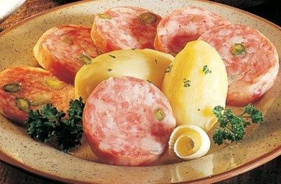 Saucisson De Lyon (cooked Pork sausage with Pistachios) -16 oz