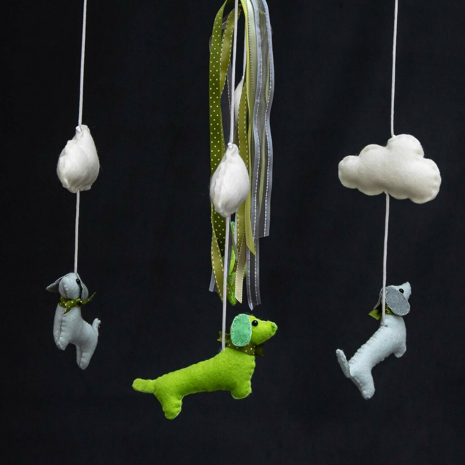 Baby Mobile - Green Dachshunds