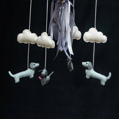 ​​Baby Mobile - Grey Dachshunds​