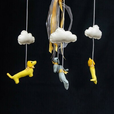 ​​​Baby Mobile - Yellow Dachshunds